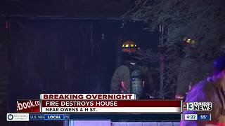 House catches fire near H Street and Owens - Video
