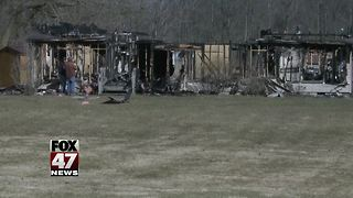 Police Investigating House Fire in Bath Township - Video