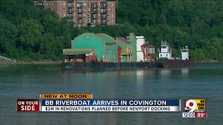 BB Riverboats barge arrives in Covington - Video