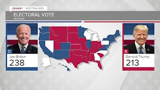 A look at the latest electoral map, candidates' statements overnight