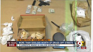 11 arrested in drug trafficking investigation
