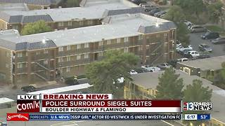 Police at Siegel Suites on Boulder Highway on Nov. 9 - Video