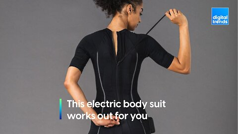 This electric body suit works out for you