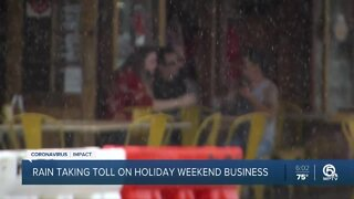 Rain taking a toll on Memorial Day weekend business