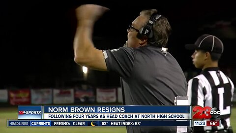 Norm Brown resign as head football coach at North High School
