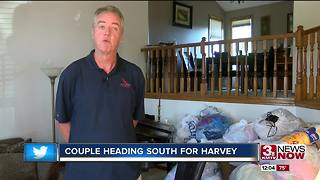 Nebraska couple to travel to Texas after Harvey - Video