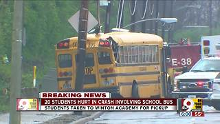 12-year-old in critical condition after school bus crash - Video