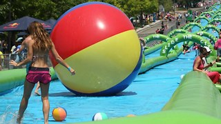 World Record Slip N' Slide - Video