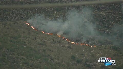 Mercer Fire burns in the Catalina mountains