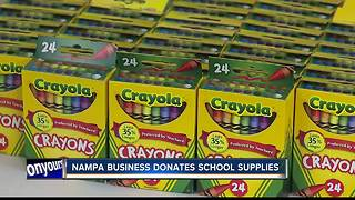 Local businessman helps kids go back to school prepared - Video
