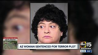 Arizona woman sentenced for terror attack plot - Video