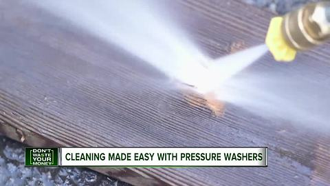 Fall cleanup made easy with a pressure washer