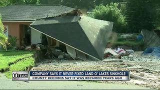I-Team looks at history of sinkhole repair on Land O' Lakes property - Video
