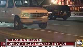 Off-duty MCSO deputy and his wife hit by van outside popular Cave Creek bar - Video