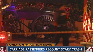 Carriage passengers recount scary crash - Video