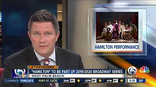 'Hamilton' coming to the Kravis Center in West Palm Beach - Video