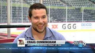 Cunningham jersey to be retired Friday night - Video