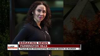 Police investigating Farmington Hills' woman's death as a murder - Video