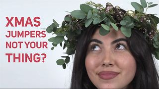 How To Christmas Flower Crown: Winter Forest - Video