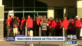 Arizona teachers issue progress reports to state lawmakers - Video