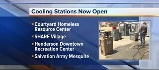 Cooling stations open in Las Vegas