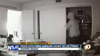 Police catch serial burglars caught on live stream - Video