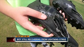 Family of boy struck by lightning advocates for CPR training that helped save his life