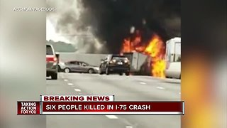 At least 6 people dead, 8 injured in I-75 crash near Gainesville