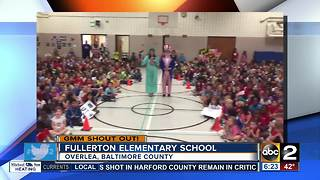 A very patriotic good morning from Fullerton Elementary School