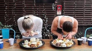 Competitive Eater Conquers Seven Deadly Bao Challenge - Video