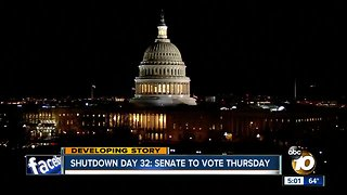 Senate to vote Thursday on shutdown bill