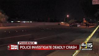 Police investigating deadly crash in north Phoenix - Video