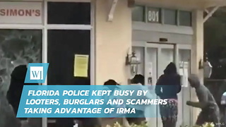 Florida Police Kept Busy By Looters, Burglars And Scammers Taking Advantage Of Irma - Video