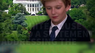 White House: Respect Tradition and Lay Off Barron Trump - Video