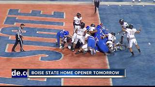 Bronco Football game preparations underway - Video