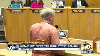 Mistake could put vacation rental vote at risk - Video