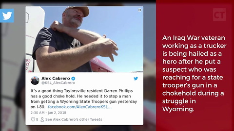 Iraq War Vet Jumps into Action, Saves Trooper's Life After Seeing Suspect Reach for Gun
