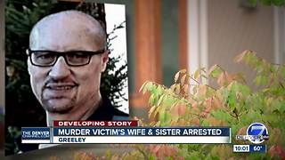 1 still sought after murder victim's wife, sister arrested, charged with murder and conspiracy - Video