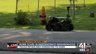 Independence police give all clear after explosive device investigation - Video