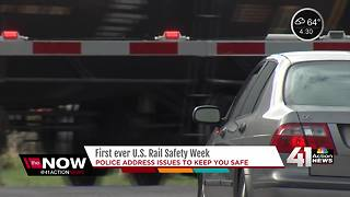 Officials discuss railroad crossing safety during 'Rail Safety Week' - Video