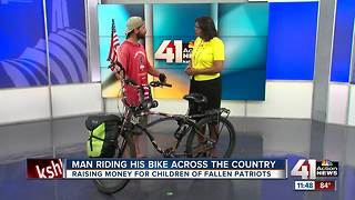 Man riding bike across the country - Video
