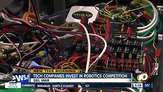 Tech companies invest in robotics competition