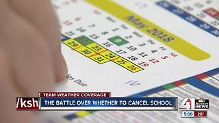The battle over canceling school - Video