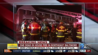 One dead after Northeast Baltimore house fire
