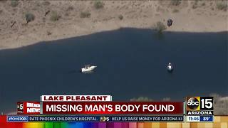 Missing man's body found at Lake Pleasant