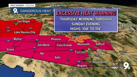 Excessive Heat Warnings go into effect for the end of the week