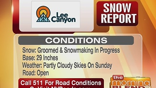 Lee Canyon Snow Report 12/22/16 - Video