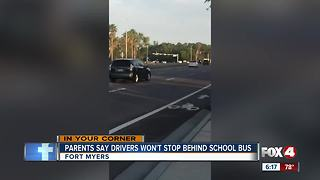 Fort Myers drivers refuse to stop for school buses - Video