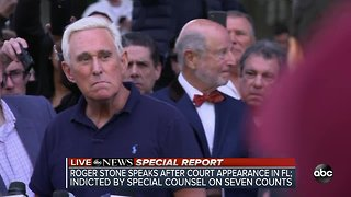 SPECIAL REPORT | Roger Stone speaks after court appearance in Florida, indicted by Special Counsel for obstruction, false statement and witness tampering