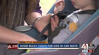 Avoid bulky coats for kids in car seats - Video